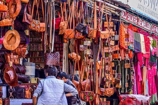 Mercado, De Cuero, Compras, Bolsas