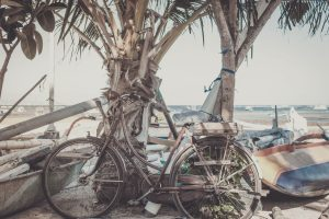comfort bike on the beach