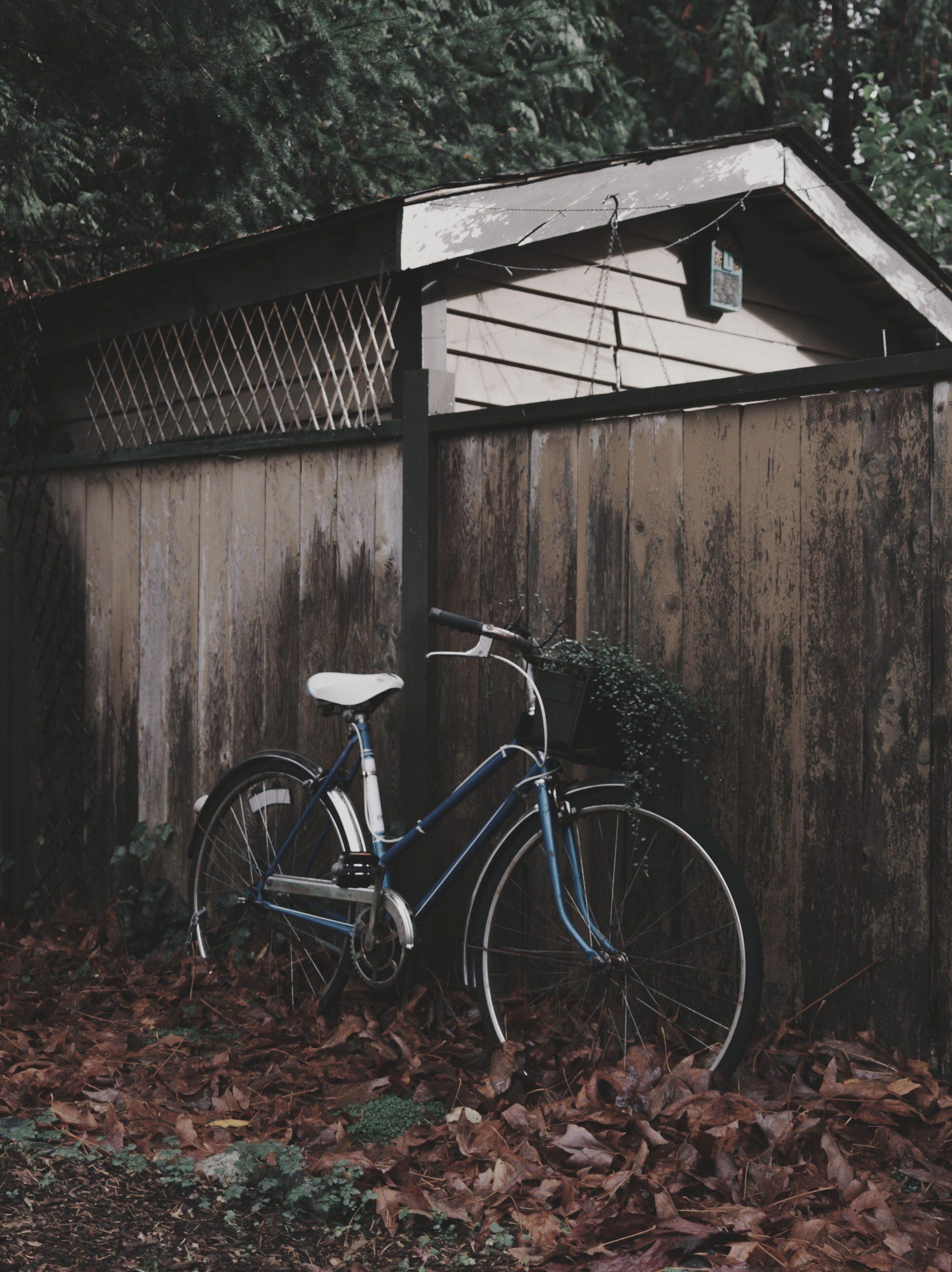 comfort bike against brown wall