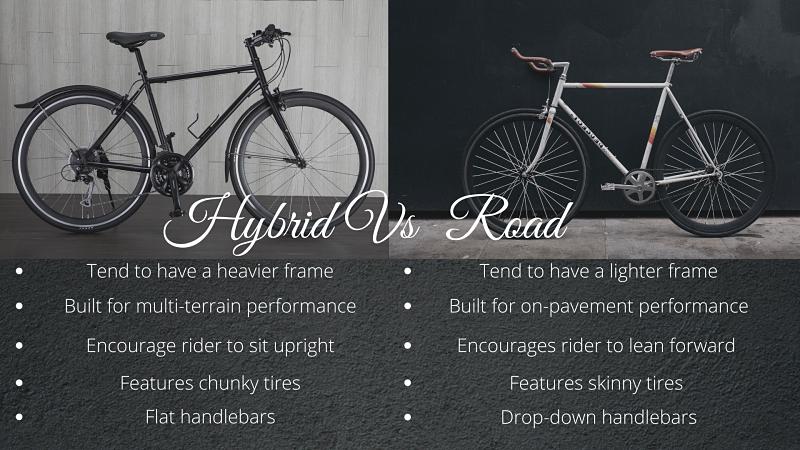 Hybrid vs road bike comparison