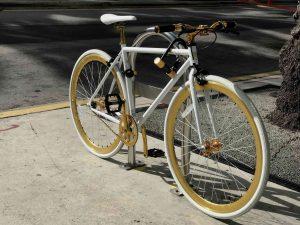 how to paint a bike- custom white