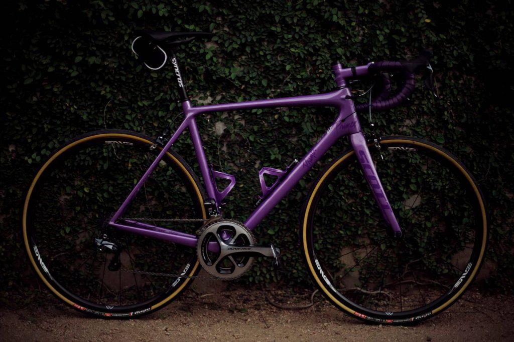 how to paint a bike - purple